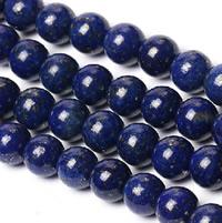 Synthetischer Lapislazuli Perlen, rund, verschiedene Größen vorhanden, Bohrung:ca. 1-1.5mm, verkauft per ca. 15 ZollInch Strang