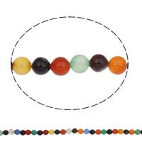 Natürliche Regenbogen Achat Perlen, rund, 8mm, Bohrung:ca. 1mm, ca. 48PCs/Strang, verkauft per ca. 15 ZollInch Strang
