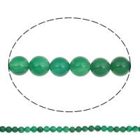 Natürliche grüne Achat Perlen, Grüner Achat, rund, 10mm, Bohrung:ca. 1mm, ca. 38PCs/Strang, verkauft per ca. 15 ZollInch Strang
