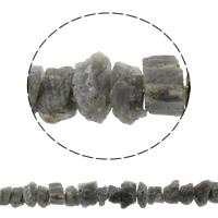 Natürliche graue Quarz Perlen, Grauer Quarz, 12-20mm, Bohrung:ca. 1mm, ca. 43PCs/Strang, verkauft per ca. 15.7 ZollInch Strang