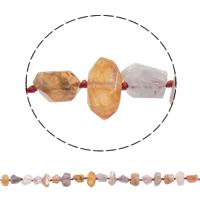 Knistern Quarz Perle, natürlich, 5-11mm, Bohrung:ca. 1mm, ca. 57PCs/Strang, verkauft per ca. 16.9 ZollInch Strang