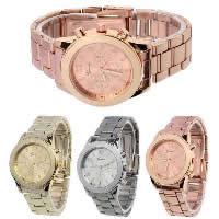 Damen Armbanduhr, Edelstahl, mit Zinklegierung Zifferblatt, plattiert, keine, 36mm, Länge:ca. 8.6 ZollInch, verkauft von PC