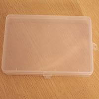 Schmuck Nagelkasten, Kunststoff, Rechteck, transparent, klar, 180x100x24mm, verkauft von PC