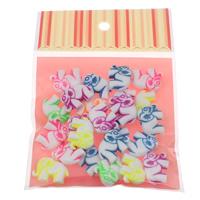 Chemische Wash Acryl Perlen, mit OPP, Elephant, verschiedene Größen vorhanden & chemische-Waschanlagen & fluoreszierende, gemischte Farben, verkauft von Tasche