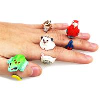 Harz Manschette Fingerring, Tier Design & verschiedene Stile für Wahl, 27x34x16mm-23x50x28mm, Größe:5-9, verkauft von PC