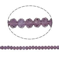 Rondell Kristallperlen, Kristall, AA grade crystal, violett, 6x8mm, Bohrung:ca. 1.5mm, Länge:ca. 17 ZollInch, 10SträngeStrang/Tasche, verkauft von Tasche