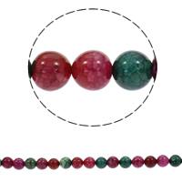 Turmalin Farbe Achat Perle, rund, synthetisch, verschiedene Größen vorhanden, Bohrung:ca. 1mm, verkauft per ca. 15.5 ZollInch Strang
