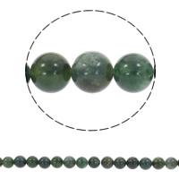 Natürliche Moos Achat Perlen, rund, synthetisch, verschiedene Größen vorhanden, Bohrung:ca. 1mm, verkauft per ca. 14.5 ZollInch Strang