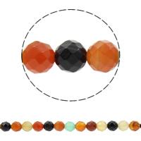 Natürliche Regenbogen Achat Perlen, rund, synthetisch, verschiedene Größen vorhanden & facettierte, Bohrung:ca. 1mm, verkauft per ca. 14.5 ZollInch Strang