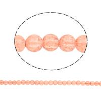 Knistern Glasperlen, Glas, rund, zweifarbig, keine, 8mm, Bohrung:ca. 1.5mm, Länge:ca. 32.2 ZollInch, 10SträngeStrang/Tasche, verkauft von Tasche