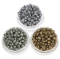 Plattierte Glas Rocailles, Glas-Rocailles, rund, keine, 3x3.6mm, Bohrung:ca. 1.5mm, ca. 5000PCs/Tasche, verkauft von Tasche