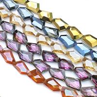 Kristall-Perlen, Kristall, bunte Farbe plattiert, facettierte, mehrere Farben vorhanden, 28x20x11mm, Bohrung:ca. 1mm, ca. 25PCs/Strang, verkauft per ca. 27.5 ZollInch Strang
