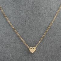 Zinklegierung Schmuck Halskette, mit Verlängerungskettchen von 2inch, Herz, goldfarben plattiert, Twist oval, verkauft per ca. 13 ZollInch Strang