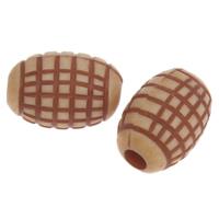 Imitation Ox Bone Acryl-Perlen, Acryl, Trommel, Imitation Rind Knochen, Kaffeefarbe, 11x7.5mm, Bohrung:ca. 1mm, 2Taschen/Menge, ca. 1260PCs/Tasche, verkauft von Menge