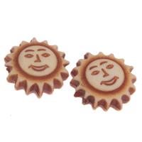 Imitation Ox Bone Acryl-Perlen, Acryl, Sonne, Imitation Rind Knochen, Kaffeefarbe, 12x4.5mm, Bohrung:ca. 1mm, 2Taschen/Menge, ca. 1535PCs/Tasche, verkauft von Menge