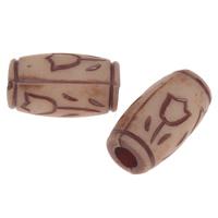 Imitation Ox Bone Acryl-Perlen, Acryl, Zylinder, Imitation Rind Knochen & großes Loch, dunkle Kaffee-Farbe, 16x9mm, Bohrung:ca. 4mm, 2Taschen/Menge, ca. 358PCs/Tasche, verkauft von Menge