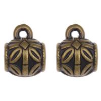 Acryl Stiftöse Perlen, Trommel, antike Bronzefarbe plattiert, 11x14x10mm, Bohrung:ca. 1mm, 5mm, 2Taschen/Menge, ca. 1000PCs/Tasche, verkauft von Menge