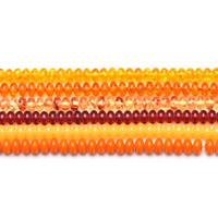 Imitierter Bernstein Harz Perlen, Rondell, Nachahmung Bienenwachs, keine, 5x8mm, Bohrung:ca. 1mm, ca. 80PCs/Strang, verkauft per ca. 15.5 ZollInch Strang