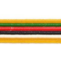 Imitierter Bernstein Harz Perlen, flache Runde, Nachahmung Bienenwachs, keine, 2.5x6mm, Bohrung:ca. 1mm, ca. 160PCs/Strang, verkauft per ca. 15.5 ZollInch Strang