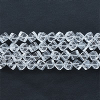 Natürliche klare Quarz Perlen, Klarer Quarz, Würfel, klar, 10mm, Bohrung:ca. 1mm, ca. 39PCs/Strang, verkauft per ca. 15.5 ZollInch Strang