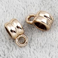Zinklegierung Stiftöse Perlen, Kreisring, vergoldet, hochwertige Beschichtung und nie verblassen, frei von Blei & Kadmium, 4x9x6mm, Bohrung:ca. 2mm, 100PCs/Tasche, verkauft von Tasche