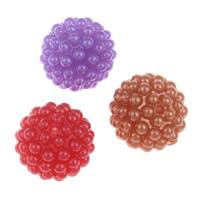 ABS-Kunststoff-Perlen, ABS Kunststoff, rund, abnehmbare & verschiedene Größen vorhanden & Volltonfarbe, keine, Bohrung:ca. 2mm, verkauft von Menge