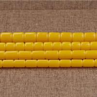 Imitierter Bernstein Harz Perlen, Zylinder, Nachahmung Bienenwachs & verschiedene Größen vorhanden, Bohrung:ca. 2mm, Länge:ca. 15.5 ZollInch, verkauft von Menge