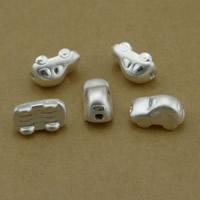 99 % Sterling Silber Beads, 99%, Auto, plattiert, keine, frei von Nickel, Blei & Kadmium, 8x8x14mm, Bohrung:ca. 2mm, 10PCs/Menge, verkauft von Menge