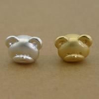 99% European Perlen, Bär, plattiert, keine, frei von Nickel, Blei & Kadmium, 13x10x10mm, Bohrung:ca. 4mm, 8PCs/Menge, verkauft von Menge