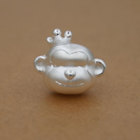 99% Großes Loch Perlen, Affe, plattiert, keine, 13x15mm, Bohrung:ca. 3mm, 7PCs/Menge, verkauft von Menge