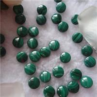 Malachit Perlen, flache Runde, natürlich, kein Loch, 10mm, 5PCs/Tasche, verkauft von Tasche