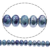 European Porzellan Perlen, Rondell, Handzeichnung, keine, 15x9mm, Bohrung:ca. 6mm, 100PCs/Tasche, verkauft von Tasche