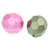 Imitation Acryl-Perlen, Acryl, oval, Nachahmung Perle & facettierte, keine, 12x11mm, Bohrung:ca. 2mm, 2Taschen/Menge, ca. 550PCs/Tasche, verkauft von Menge