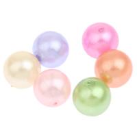 Imitation Acryl-Perlen, Acryl, rund, Nachahmung Perle, gemischte Farben, 11mm, Bohrung:ca. 1mm, 2Taschen/Menge, ca. 500PCs/Tasche, verkauft von Menge
