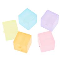 Gelee-Stil-Acryl-Perlen, Acryl, Würfel, transluzent, gemischte Farben, 12mm, Bohrung:ca. 1mm, 2Taschen/Menge, ca. 260PCs/Tasche, verkauft von Menge