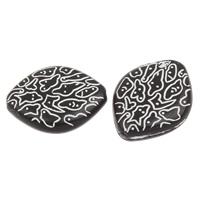 Kunstdruck Acrylperlen, Acryl, Rhombus, schwarz, 19x15x5mm, Bohrung:ca. 1mm, 2Taschen/Menge, ca. 500PCs/Tasche, verkauft von Menge
