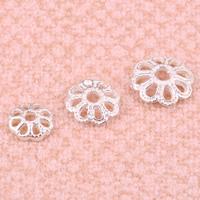 925 Sterling Silber Perlenkappe, Blume, verschiedene Größen vorhanden, 10PCs/Tasche, verkauft von Tasche
