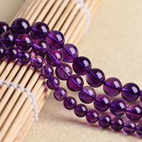 Natürliche Amethyst Perlen, rund, synthetisch, Februar Birthstone & verschiedene Größen vorhanden, Bohrung:ca. 1mm, verkauft per ca. 15.5 ZollInch Strang