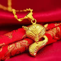 24 k-Gold überzogene hängende Farbe, Messing, Fuchs, 24 K vergoldet, Blume Schnitt & Vakuum Protektor Farbe & gehämmert, 20x30mm, Bohrung:ca. 3x5mm, 10PCs/Menge, verkauft von Menge