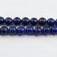 Lapislazuli Perlen, natürlicher Lapislazuli, rund, verschiedene Größen vorhanden, Bohrung:ca. 1mm, Länge:ca. 16 ZollInch, verkauft von Menge