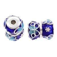 Cloisonne Perlen, Cloisonné, Trommel, handgemacht, frei von Blei & Kadmium, 16x12mm, Bohrung:ca. 2mm, verkauft von PC