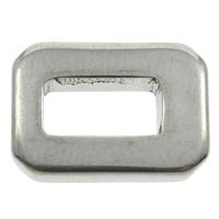 Edelstahl Verbindungsring, Rechteck, originale Farbe, 14x10x2.50mm, Bohrung:ca. 4-6mm, 200PCs/Tasche, verkauft von Tasche