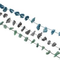 Druzy Beads, Eisquarz Achat, natürlich, druzy Stil, keine, 10x17x13-11x17x14mm, Bohrung:ca. 1mm, 25PCs/Strang, verkauft per ca. 15.5 ZollInch Strang