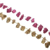 Druzy Beads, Eisquarz Achat, plattiert, natürliche & druzy Stil, keine, 10x19-19x26mm, Bohrung:ca. 1mm, 20PCs/Strang, verkauft per ca. 15.5 ZollInch Strang