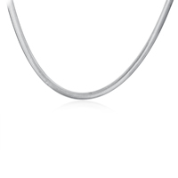 comeon® Schmuck Halskette, Messing, versilbert, Fischgräten-Kette & Weitere Größen für Wahl, frei von Nickel, Blei & Kadmium, 6mm, verkauft von Strang