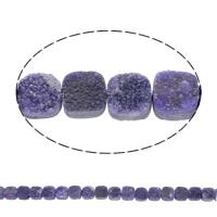 Druzy Beads, Eisquarz Achat, Quadrat, natürlich, druzy Stil, violett, 10x5mm, Bohrung:ca. 1mm, 20PCs/Strang, verkauft per ca. 8 ZollInch Strang