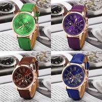 Damen Armbanduhr, PU Leder, mit Glas & Zinklegierung, Rósegold-Farbe plattiert, keine, frei von Nickel, Blei & Kadmium, 40mm, Länge:ca. 9.6 ZollInch, verkauft von PC