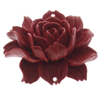 Cinnabaris Schmuckverbinder, Blume, 1/1-Schleife & geschichtet, 46x39x15mm, Bohrung:ca. 1mm, 10PCs/Tasche, verkauft von Tasche