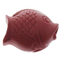 Zinnoberrot Perlen, Cinnabaris, Fisch, rot, 30x25x16mm, Bohrung:ca. 2.5mm, 10PCs/Tasche, verkauft von Tasche