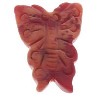 Zinnoberrot Perlen, Cinnabaris, Schmetterling, rot, 20x29x5mm, Bohrung:ca. 1mm, 10PCs/Tasche, verkauft von Tasche